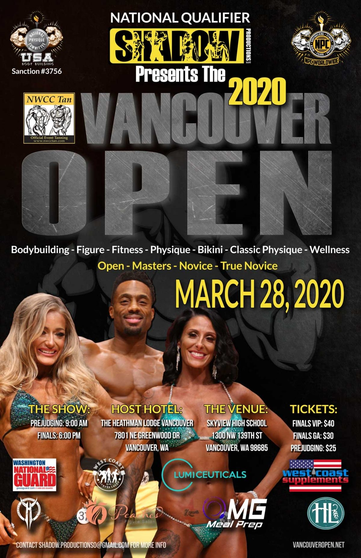 2020 N.P.C Vancouver Open & Fitness Expo